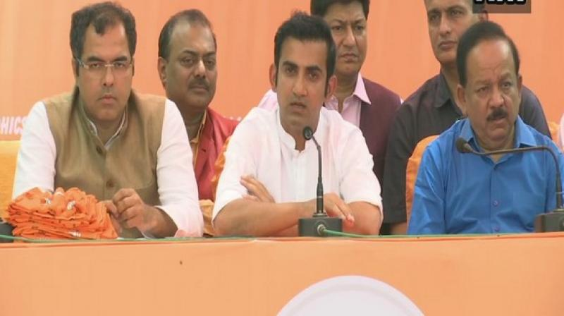 Gambhir asserted that he would not make any false promises to the people of Delhi and will focus on making the city the