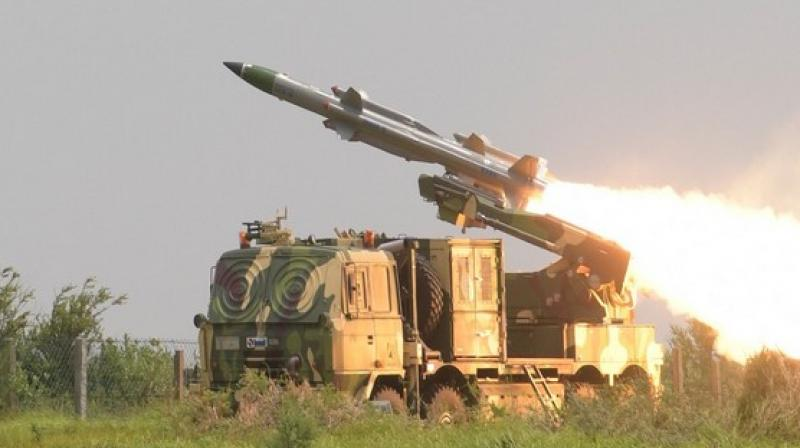 This is the second successful test of the missile in last two days as a successful test was done by them on Saturday also. (Photo: ANI twitter)