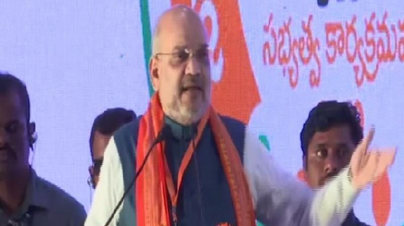 Shah also congratulated Modi for the budget, saying it opens schemes for rural farmers and poor people of the country. (Photo: ANI)