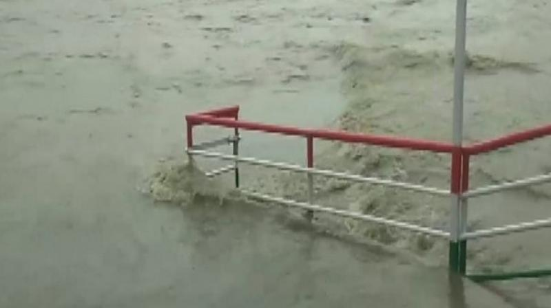 IMD, a day earlier, had issued an alert of heavy rainfall for several districts in Uttarakhand from July 9 to July 13. (Photo: ANi)