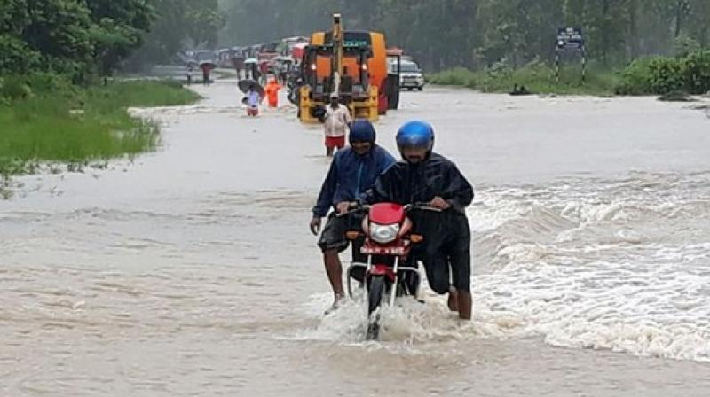 According to Principal Secretary, Disaster Management, Pratya Amrit, six districts have severely been affected due to the rising level of rivers following torrential rains. (Photo: Representational I ANI)