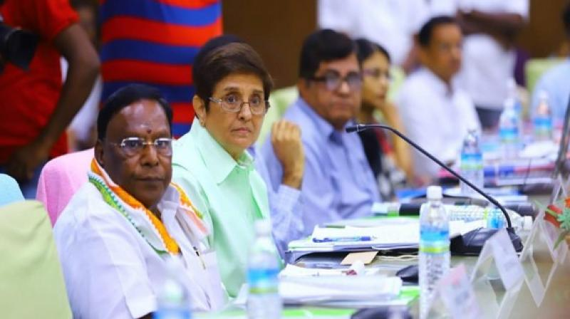 Both Bedi and Narayanasamy have locked horns over administrative issues since the former top cop took office in 2016. (Photo: ANI)