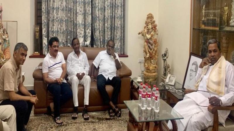 The Hoskote MLA Nagaraj and Chikballapur Congress MLA K Sudhakar had resigned from the Assembly on July 10. (Photo: ANI)