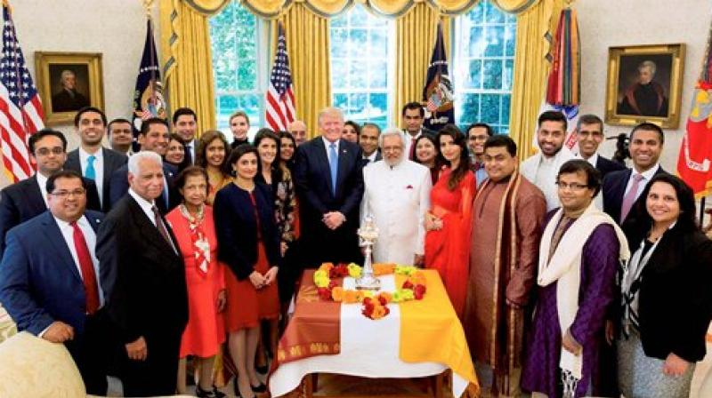 Diwali celebrations in the White House. (Photo: PTI)