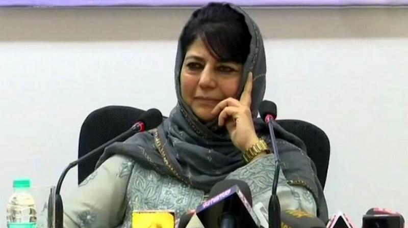 A complaint against former chief minister Mehbooba Mufti over her 'seditious' statement earlier this year has been forwarded by the Jammu district magistrate to a senior police officer for examination and necessary action as warranted by the law, a social activist said Wednesday. (Photo: File)