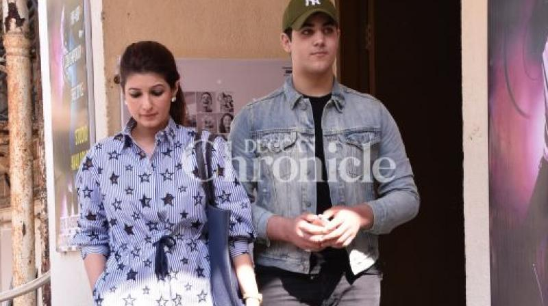 Aarav Bhatia Keeps Replaying A Clip From The Film Jaan Where Twinkle Khanna Is Kissing Around Ajay Devgn's Nipple