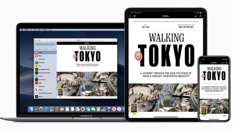 The annual price of a USD 100 digital subscription to the New Yorker plus a USD 20 annual subscription for Vanity Fair alone would equal the USD 120 annual cost of Apple News+, which will also include hundreds of other publications.