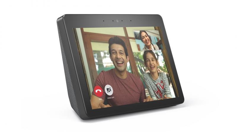 The Echo Show screen is complemented by dual, side-firing 2-inch Neodymium drivers, a passive bass radiator, and Dolby processing to deliver expansive sound with deep, powerful lows, and crisp highs, perfect for listening to your favorite music.