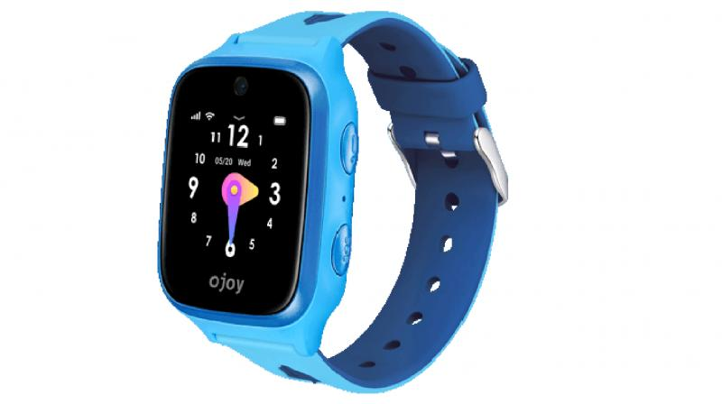 The device like most smart watches doubles as a step counter and activity tracker.