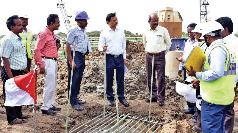PWD Officials at site
