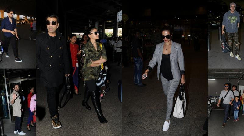 Bollywood celebrities were snapped in their stylish avatar at the Mumbai Airport (Photos: Viral Biyani)