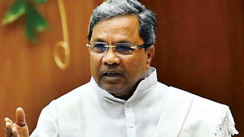 Former chief minister Siddaramaiah.
