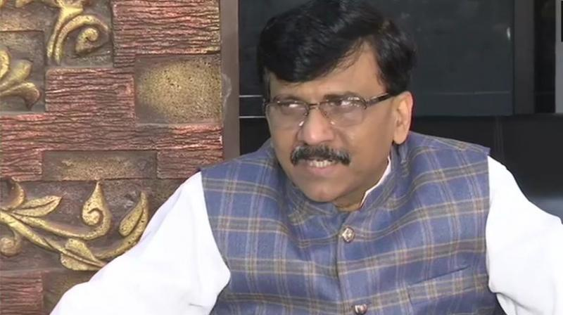 """Asked if the three non-BJP parties would meet the state governor on Friday itself, Raut quipped, """"Why meet the governor when the President's rule is in place"""". (Photo: ANI)"""