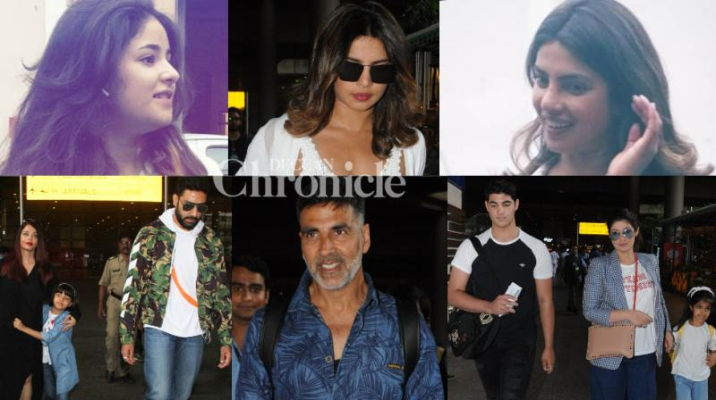 Bollywood stars were caught on paparazzi cameras in Mumbai city as they stepped out on Monday. (Photos: Viral Bhayani)