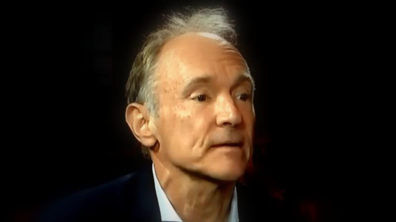 Berners-Lee, who hatched the Web in 1989, said a sense of optimism about the internet had been damaged by abuses of personal data, online hate speech, political manipulation and the centralization of power among a small group of major tech firms. (Photo: Tim Berners-Lee – Via TedEx YouTube video)