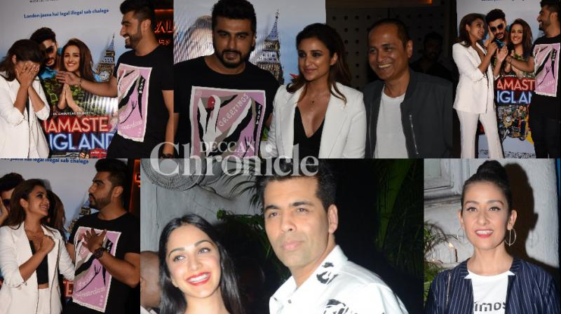 It was a day of celebrations for Bollywood stars in Mumbai on Wednesday as two film teams partied in the city. (Photos: Viral Bhayani)