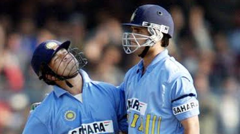Sachin Tendulkar on Tuesday congratulated Sourav Ganguly as he is all to become Board of Control for Cricket in India (BCCI) president. (Photo: Twitter)
