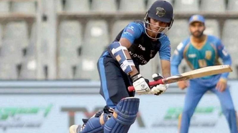 Playing in his debut Vijay Hazare season, the 17-year-old Yashasvi Jaiswal scored 203 off 154 balls, which included 12 sixes and 17 fours against a Jharkhand attack that included out-of-favour India pacer Varun Aaron and Shahbaz Nadeem. (Photo: Twitter)