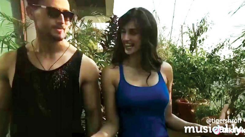 Tiger Shroff and Disha Patani in a Tik Tok video