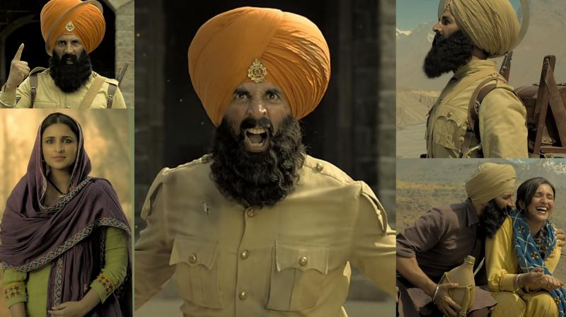 Screen grabs from Kesari trailer. (Courtesy: YouTube/ Dharma Productions)