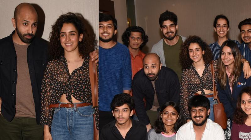 Sanya Malhotra and director Ritesh Batra at 'Photograph' screening.