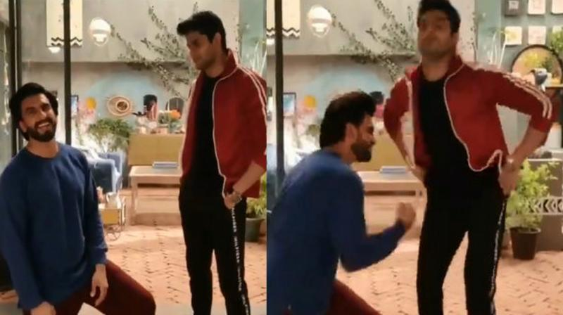 Abhimanyu Dassani with Ranveer Singh in the video. (Twitter)