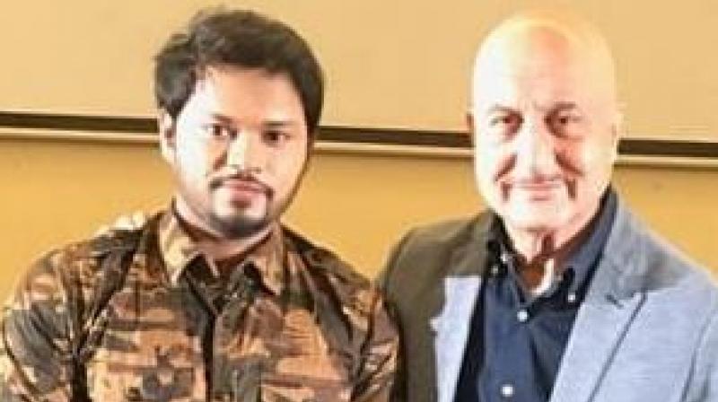 Sandip Pal with Bollywood star Anupam Kher.