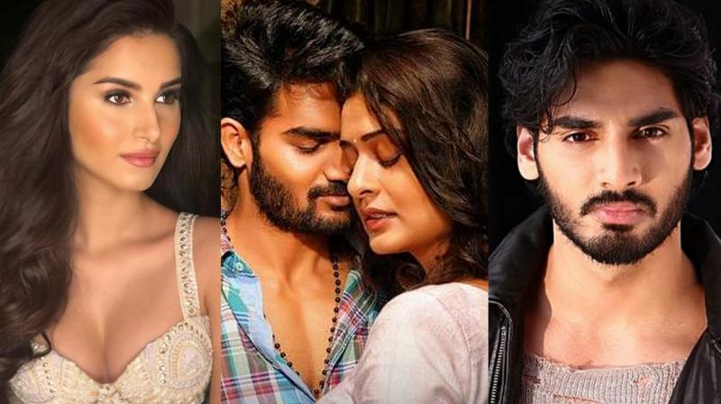 Suniel Shetty's son Ahan Shetty on Tuesday started shooting for his debut film, the Hindi remake of Telugu hit