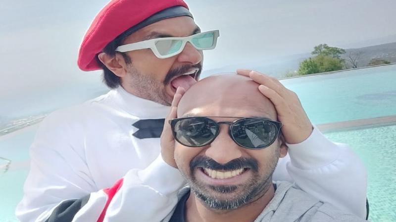 Ranveer Singh with Sahil Khattar.