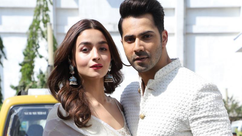 Varun Dhawan with his 'Kalank' co-actor Alia Bhatt.