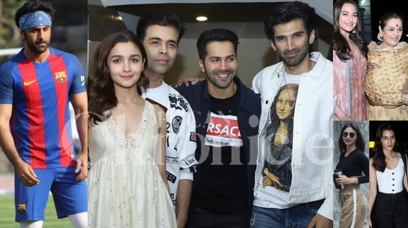 Bollywood stars Ranbir Kapoor, Aamir Khan, Mouni Roy, Alia Bhatt, Karan Johar, Varun Dhawan and others were snapped in the city. (Pictures: Viral Bhayani)