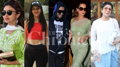 Bollywood stars Ranveer Singh, Kangana ranaut, Mouni Roy, Amyra Dastur, Sonali Bendre-Behl and others were spotted in the city. (Photos by Viral Bhayani)