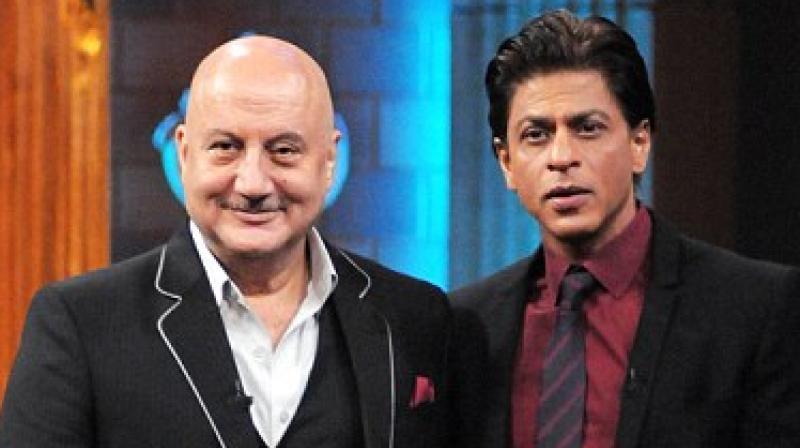 Anupam Kher and Shah Rukh Khan.