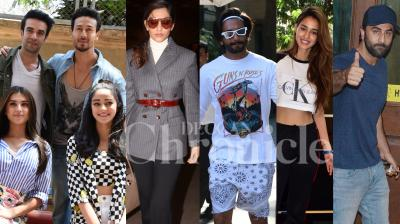 Bollywood stars Ranbir Kapoor, Ranveer Singh, Sonam Kapoor, Disha Patani, Student of the Year 2 team and others were snapped in the city. (Photos: Viral Bhayani)
