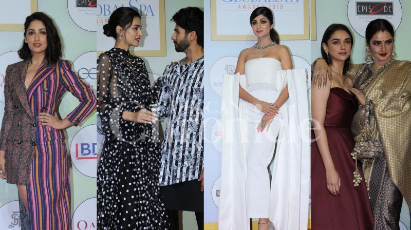 Bollywood celebrities including Shahid Kapoor, Shilpa Shetty, Kriti Sanon, Rekha and many others attended the GeoSpa awards 2019. (Photos: Viral Bhayani)