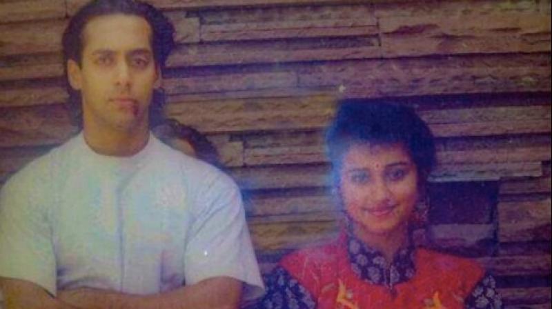 Salman Khan and Divya Dutta in the photo. (Instagram)