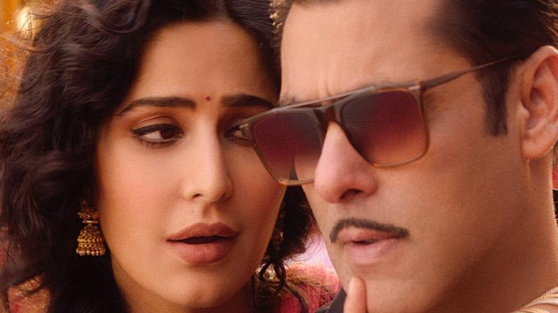 Salman Khan and Katrina Kaif in the song.