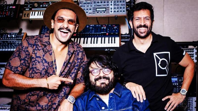 Ranveer Singh welcomed music sensation Pritam with a picture along with director Kabir Khan. (Image: Twitter)