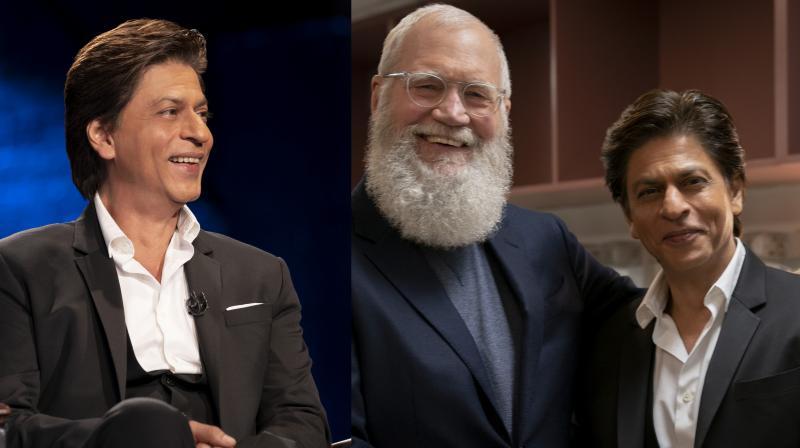 Shah Rukh Khan with David Letterman.