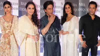 Bollywood celebs including, Shah Rukh Khan, Salman Khan, Katrina Kaif, Mouni Roy and Urmila Matondkar, attended the annual Iftar party thrown by Indian politician Baba Siddique. (Pictures by Viral Bhayani)