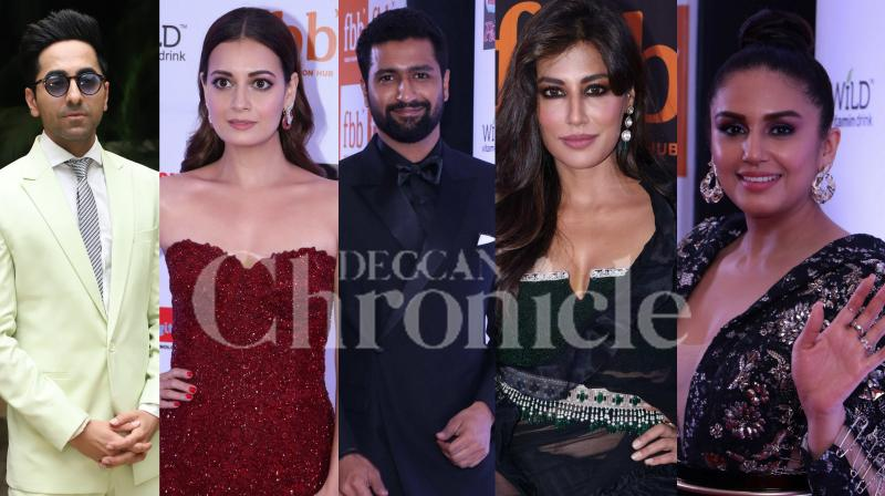 Bollywood stars Vicky Kaushal, Ayushmann Khurrana, Huma Qureshi, Dia Mirza, Chitrangda Singh and others were snapped in the city. (Pictures: Viral Bhayani)