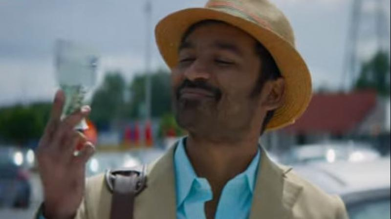 Dhanush in the still from the song.