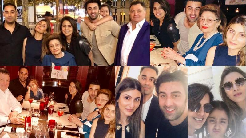 Neetu Kapoor celebrated her 60th birthday with the entire Kapoor family in Paris on Sunday. (Photos: Instagram)