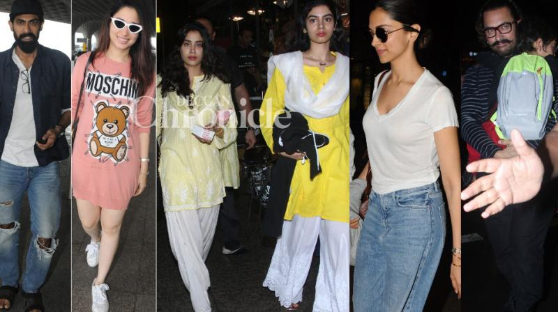 Bollywood stars travelled on Sunday and many celebrities were clicked at the airport  and other locations in Mumbai. (Photos: Viral Bhayani)