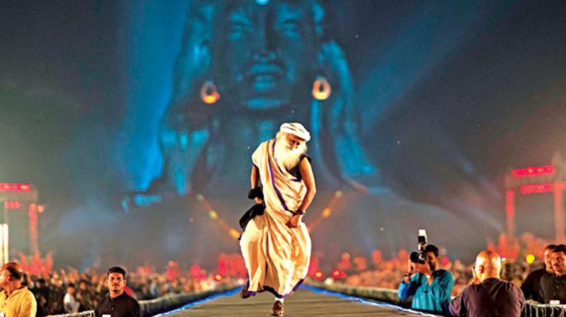 Adi Yogi at Isha enchanted by song and dance through Mahashivaratri