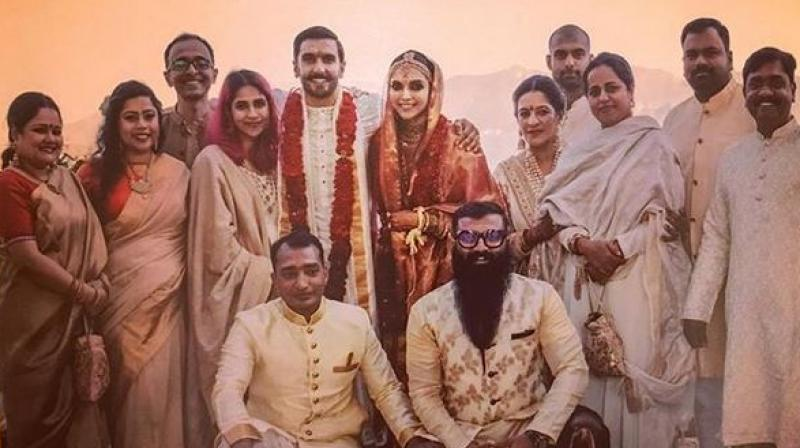 Newlyweds Deepika-Ranveer arrive in India