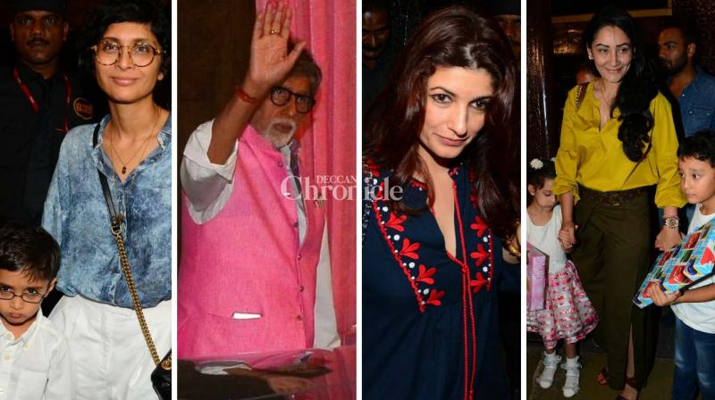 Amitabh Bachchan's graddaughter Aaradhya celebrated her birthday last week and a bash for industry celebrities was held on Sunday. (Photo: Viral Bhayani)