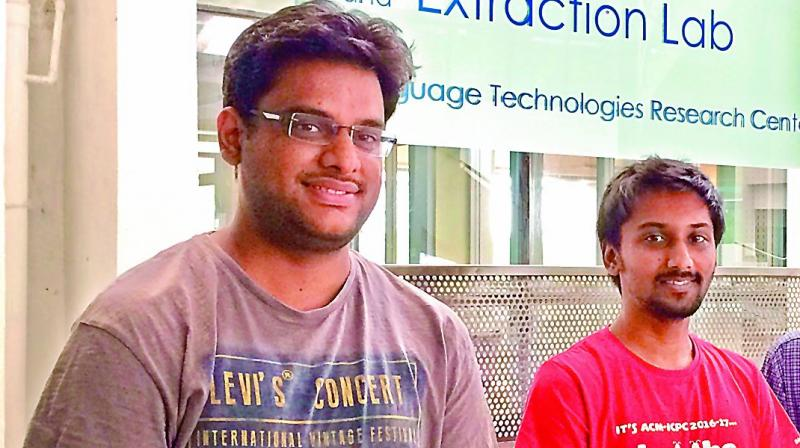 Shashank Gupta and Pinkesh Badjatiya work at IIIT-Hyderabad's Information and Retrieval Extraction Lab (IREL)