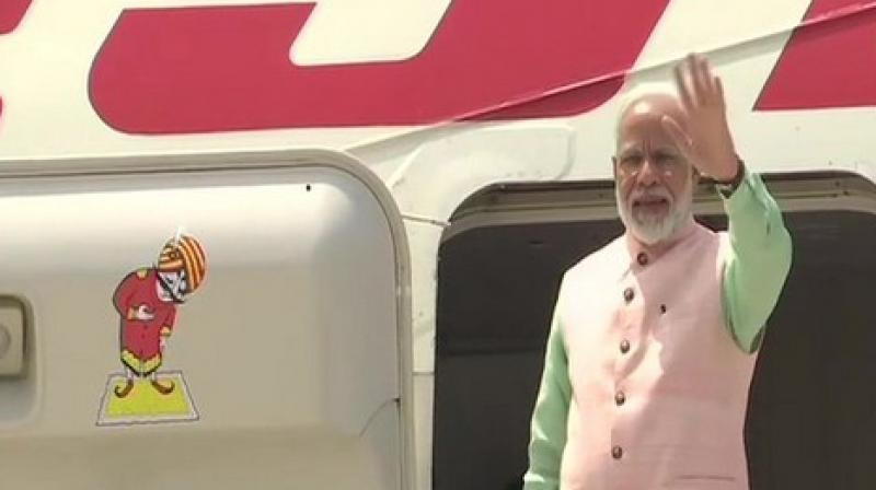 PM Modi embarks on a three-nation visit to Bahrain, UAE and France. (Photo: ANI)