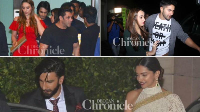 Salman Khan and Iulia Vantur, Varun Dhawan with Natasha Dalal, Ranveer Singh and Deepika Padukone spotted.